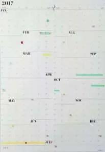 2017 calendar from NeuYear
