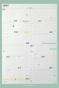 My NeuYear calendar for 2017