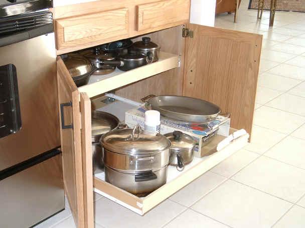 shelves for kitchen cabinets beach themed decor roll out cabinet organization rolling shelf outs rollout shelving