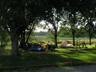 Grass tent area