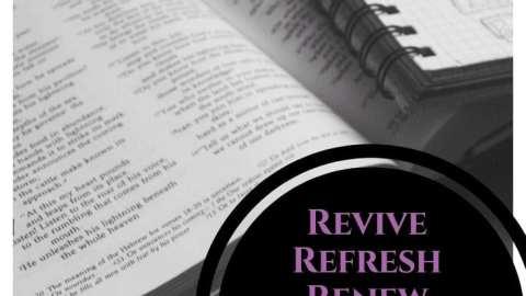 Scripture Writing plan revive refresh renew January