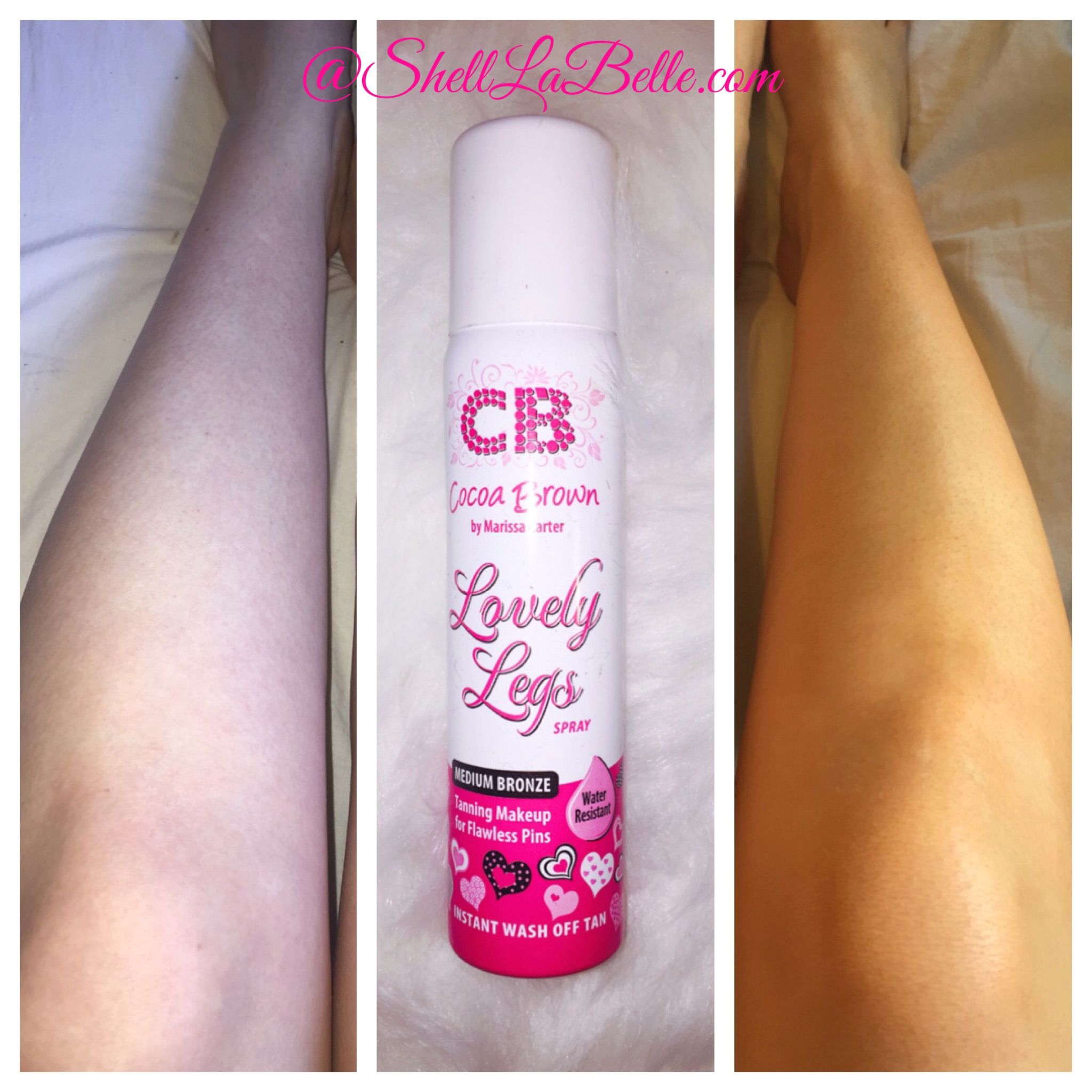Cocoa brown lovely legs spray review
