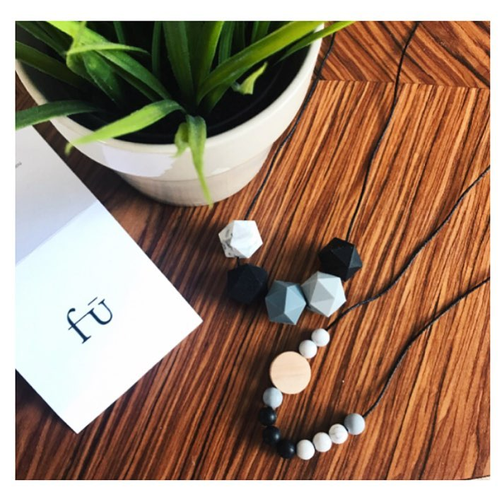 How cool are these silicone necklaces from fudesigns grey blackhellip