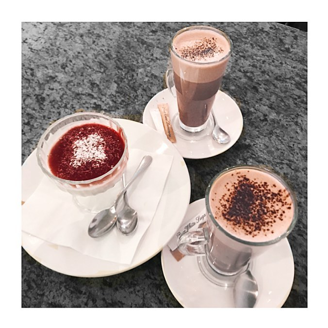 humpday treats hot chocolate and dessert with two spoons wednesdayhellip