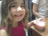 Ella drinking her slush