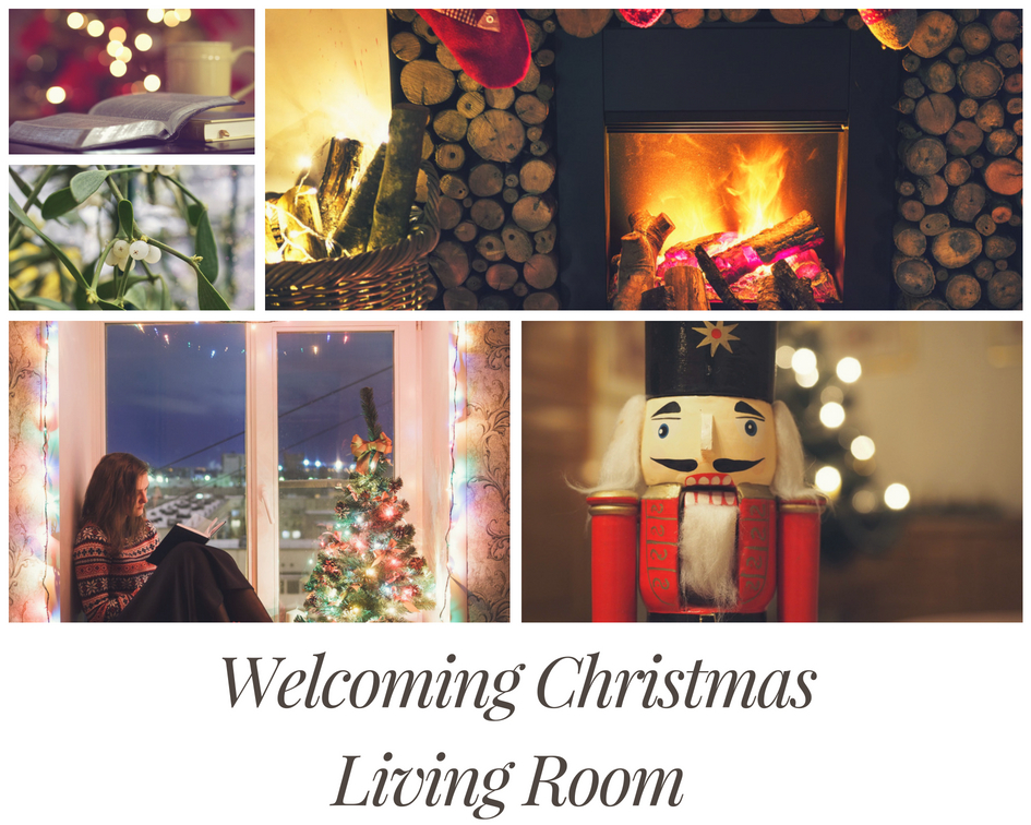 welcoming Christmas living room