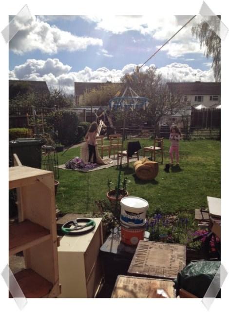 making a den in the garden
