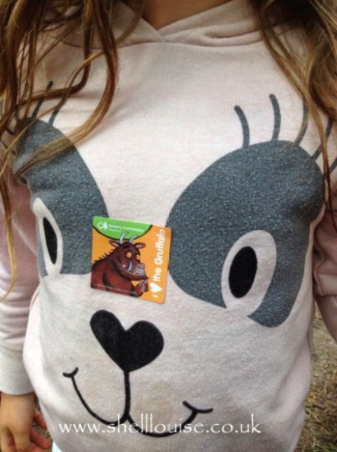 Ella's gruffalo sticker