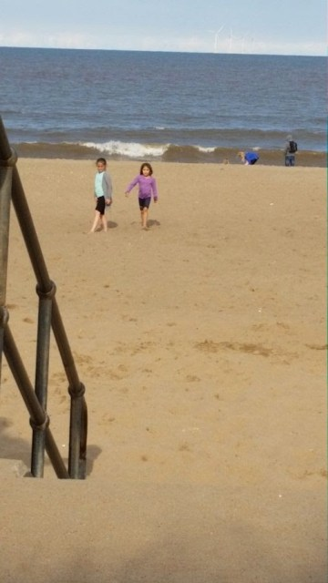 KayCee and Ella on the beach