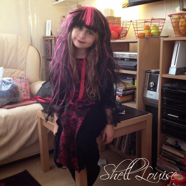 Ella in her Halloween costume