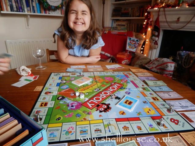 KayCee playing Moshi Monopoly