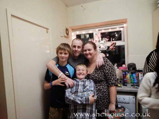 My sister, Stacy with her partner, Scott and 2 of their children, Mason and Bradley