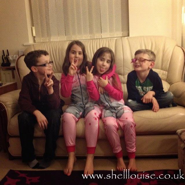 Jamie, Kaycee, Ella and Damien - Christmas Eve photos