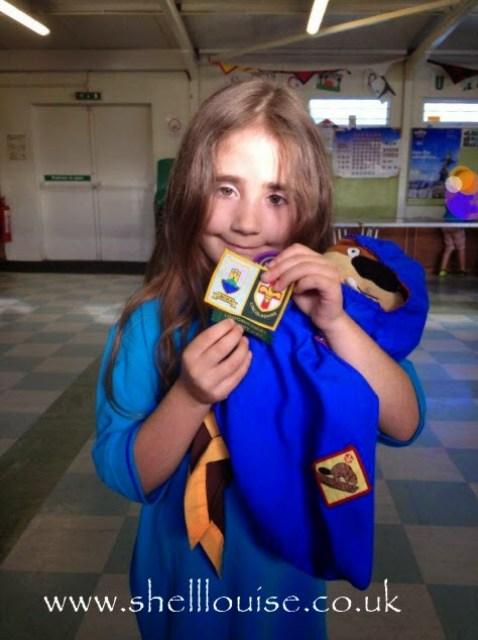 Look back at 2014 - June - Ella became a Beaver