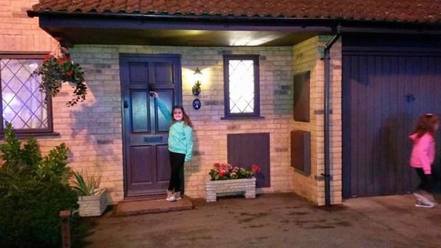 Harry Potter Studio Tour - Kaycee at the Dursley house
