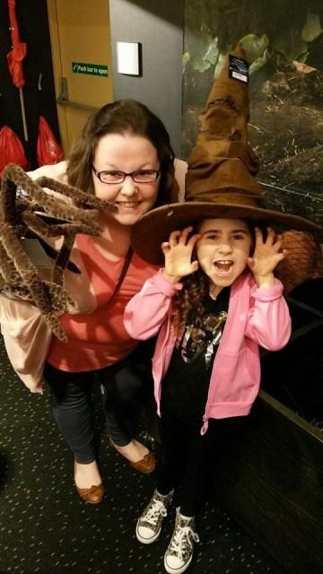Harry Potter Studio Tour - Kellyann and Ella in the gift shop