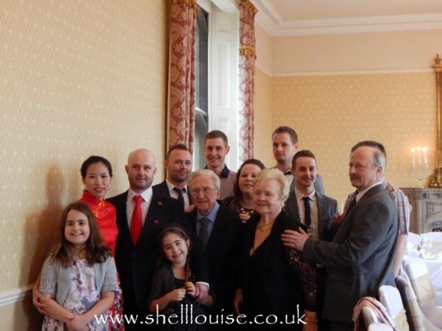 wedding reception - Kaycee, Ella, Nanny, Anthony, Aiden, Jervais, Kellyann, Grandad, Jonathan, Elaine, Jourdain, Jervais, Jason