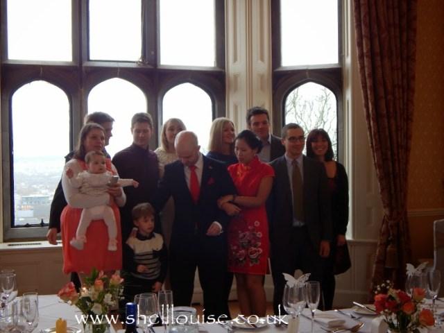 wedding recpetion - Jonathan, Elaine and Jonathan's cousins