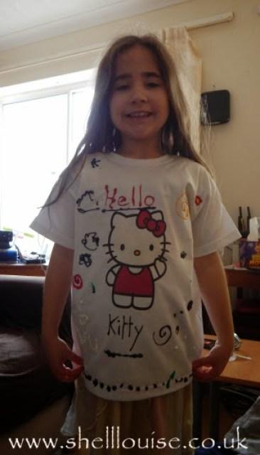 designing t-shirts - Ella's finished design