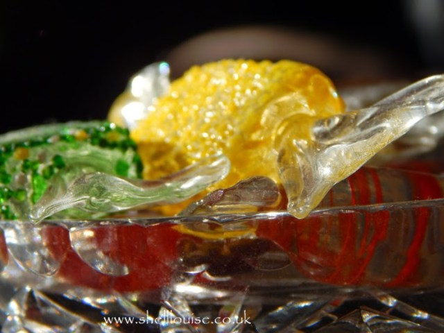 close up of glass sweets