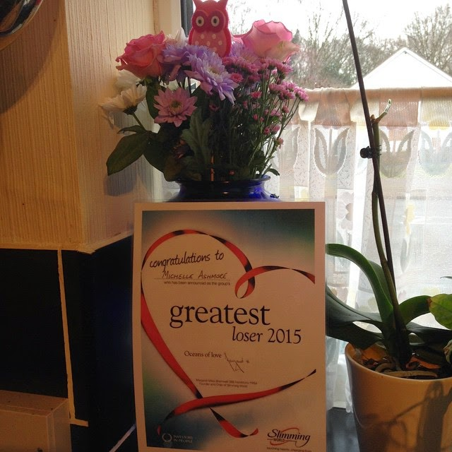 Greatest Loser certificate from Slimming World for losing 7.5 stone