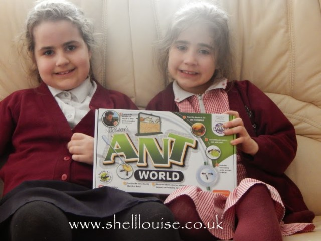 Kaycee and Ella with their Ant World from Wicked Uncle