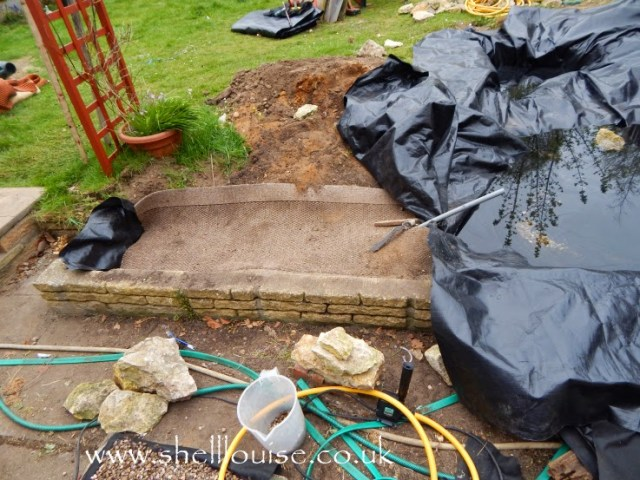 Pond lining and stream bed