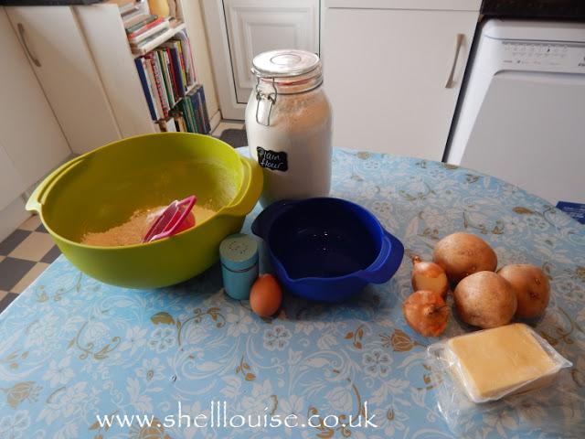 Potato and cheese pierogi ingredients
