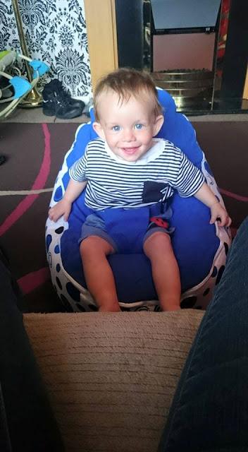 Logan on a beanbag