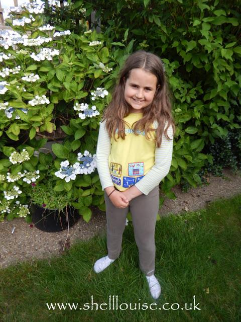 Kaycee in her Brownie uniform - last day at Brrownies