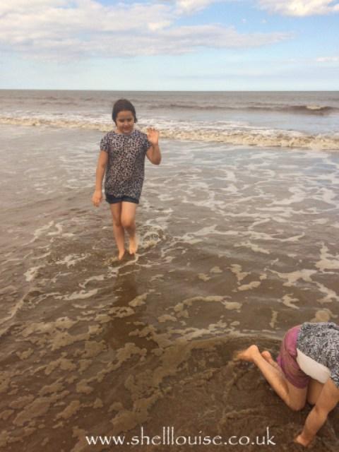 Kaycee and Ella in the sea