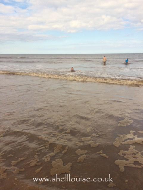 Kaycee in the sea