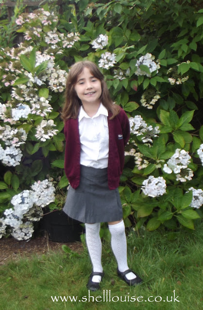 Ella before her first day back at school