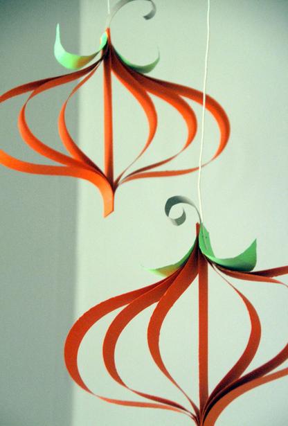 Paper pumpkins - Halloween paper crafts