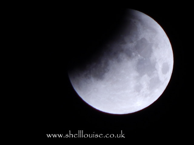 The start of the lunar eclipse