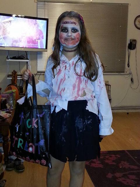 Kaycee dressed up for Halloween
