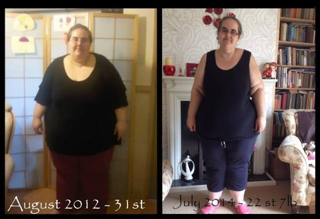 December 9th - Me at 31 stone in August 2012 then me at 22.5 stone in August 2014