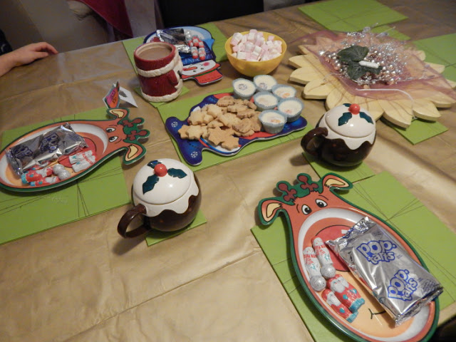Pop tarts, shortbread, hot chocolate and marshmallows