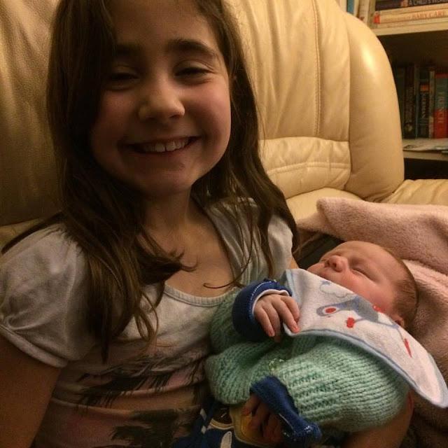 Ella and baby Kieron - January 24th