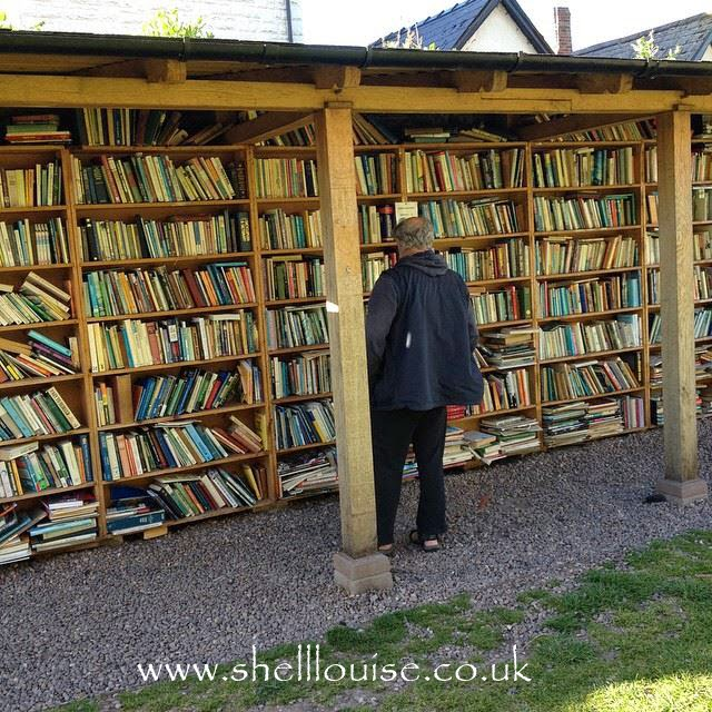 The outdoor bookshop at Hay on Wye