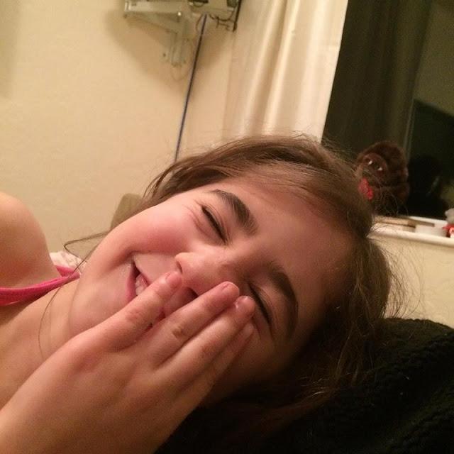 Ella laughing