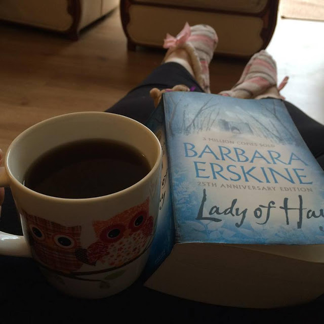 Lady of Hay book and a mug of coffee - 1 day, 12 pics