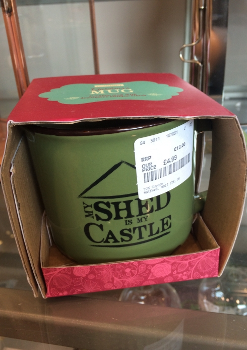 HomeSense my shed is my castle mug