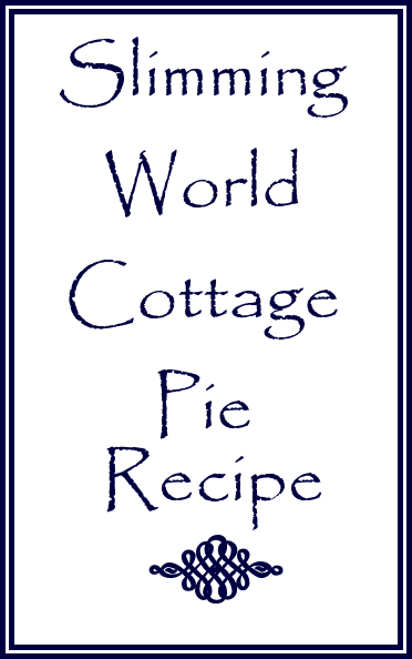 Slimming World cottage pie recipe