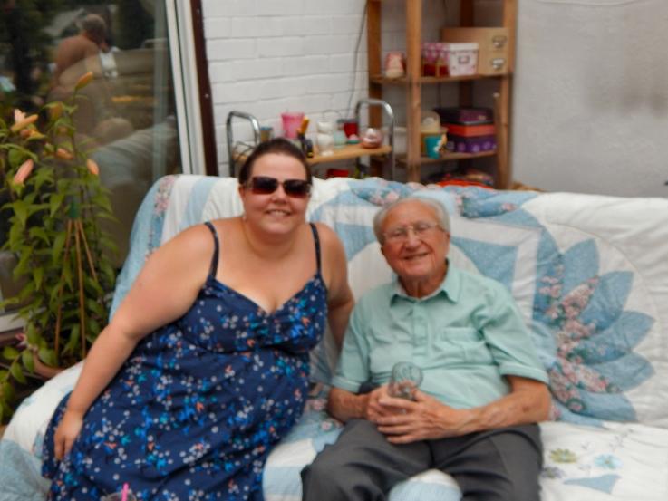 Kellyann and grandad