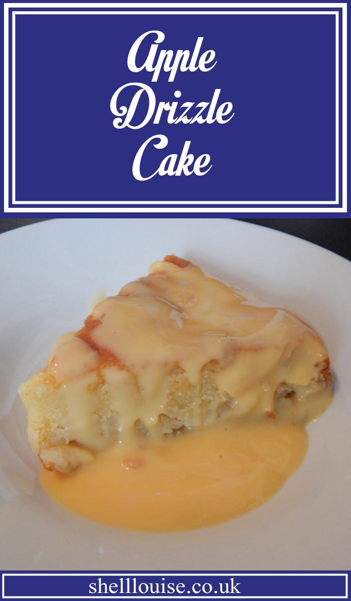 Apple drizzle cake