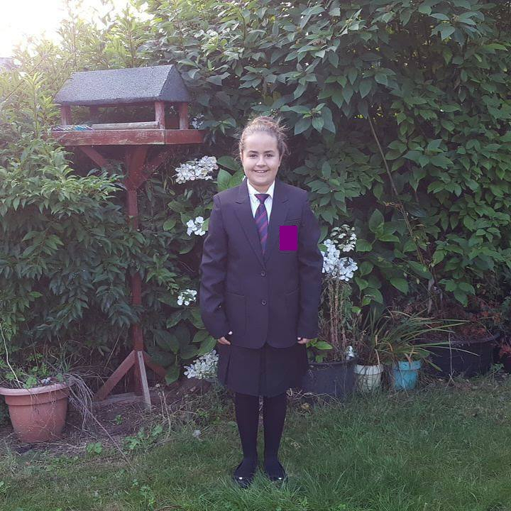 Kaycee's first day of secondary school - My Sunday photo