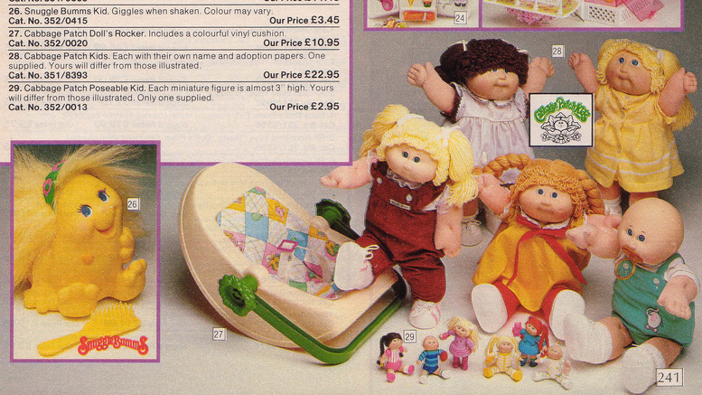 Argos Catalogue Cabbage Patch Dolls
