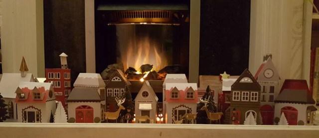 papercraft Christmas village