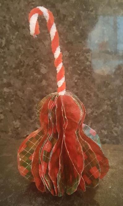 vintage paper tree ornament